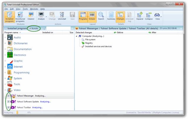Batch uninstaller windows 7 - analysis