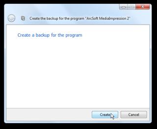 Create backup for programs
