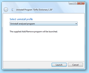 Total Uninstall - uninstall analyzed program