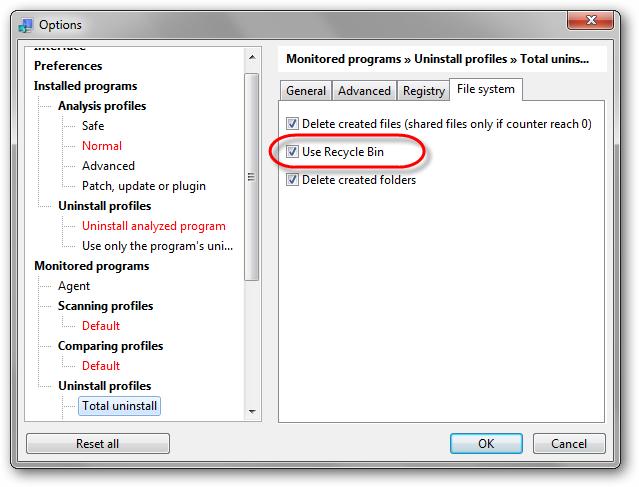 uninstall-profile-delete-to-recycle-bin-option